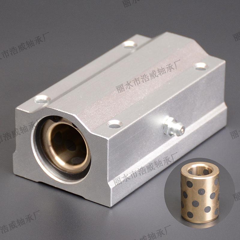内嵌全石墨铜直线铝滑块加长型SCS-LUU